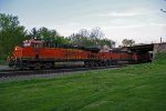 BNSF 7289 Leads a Wb stack train at Peck Park.